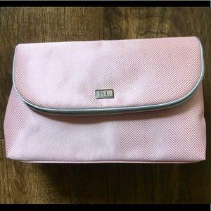 Brand New Ralph Lauren Pink and Silver Makeup Bag